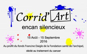 AFFICHE CORRID'ART DE HUGO MIOUSSE