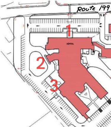 Plan des entrées - COVID-19 V2